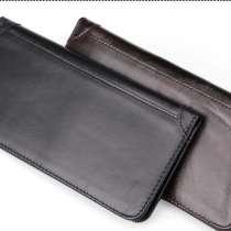Тонкое кожаное портмоне с RFID protected/Натуральная кожа/По, в г.Астана