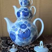 Набор из трёх чайников «Россыпь синевы», СССР, в Новосибирске