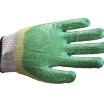 Перчатки х/б с двойным латексным покрытием утеплённые, в Москве