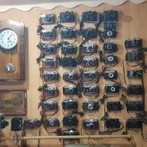 Коллекция фотоаппаратов и часов СССР и германии, в Анжеро-Судженске