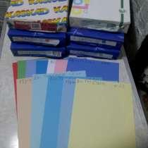 Бумага цветная в пачках 500 листов и поштучно (цена за лист), в Владимире
