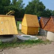 Колодезные домики, осиновый щит (донный фильтр), в Боровичах