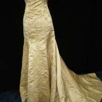 Золотое свадебное (вечернее) платье со шлейфом, в г.Черновцы