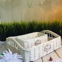 Набор плетеных интерьерных корзинок, в Королёве