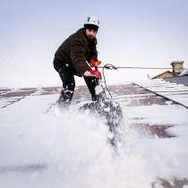 Чистим крыши от снега, в Омске