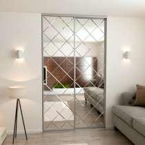 Зеркало серебро с фрезировкой (ромбы), в г.Брест