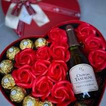 Подарок на 8 марта мыльные розы букеты боксы, в Краснодаре