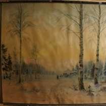 М. Балунин, «Зимний пейзаж», Россия, 19 в, в Санкт-Петербурге