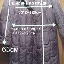 Пальто демисезонное на синтепоне с капюшоном, б/у, р.52-56, в г.Брест