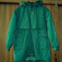 Куртка на сентипоне с капюшоном, тёплая,в отличном состоянии, в Тихвине