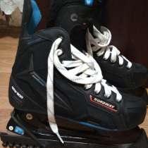 Продам хоккейные коньки Nordway 39 р.,шнурки, сумку и защиту, в Новокузнецке