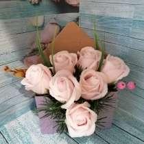 Композиции из мыльных роз в наличии и на заказ, в Железногорске