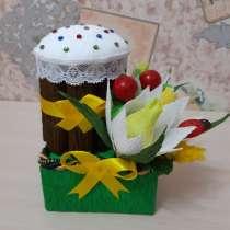 Пасхальный кулич из конфеток, в Сургуте