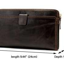 """Классный кожаный клатч """"Marrant Leather"""". Очень вместительны, в г.Астана"""