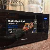 Микроволновая печь Samsung MG23J5133AK/BW черный, в Новосибирске
