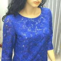 Новое васильковое платье кружевное с мохер. нитью, в Твери