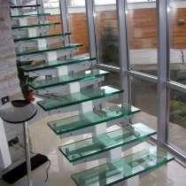 Ступени стеклянные, ограждения для лестниц, балконов, в г.Брест
