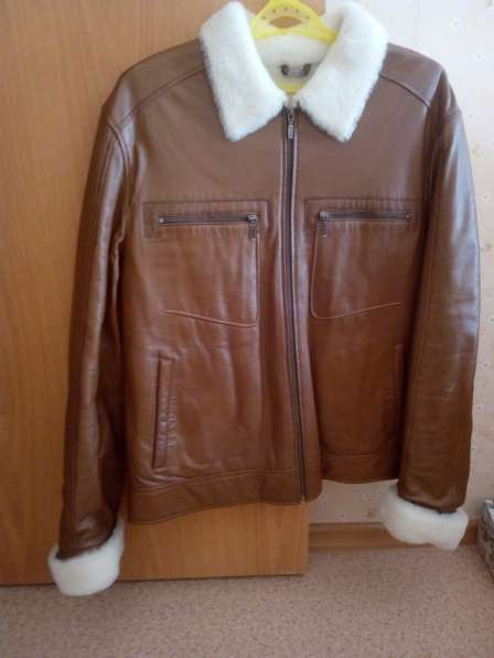 Кожанная куртка на меху