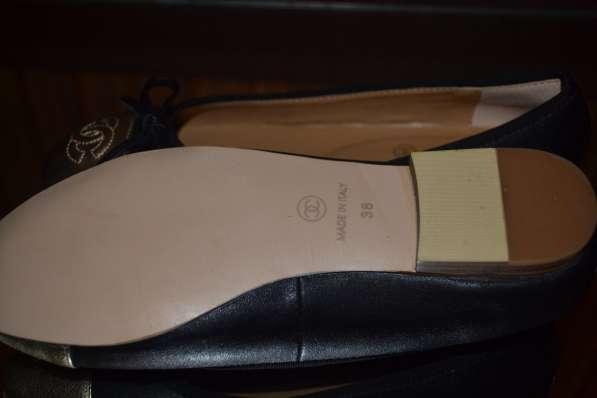 Балетки Chanel, цвет: черный в фото 3