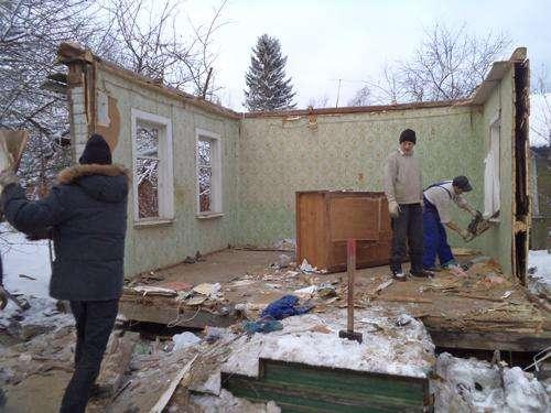 Демонтаж домов. Разнорабочие. Снос. Вывоз мусора