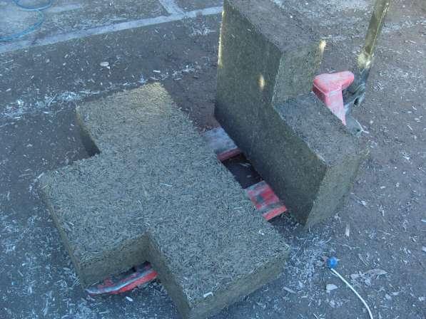 Арболитовый блок, тетрис