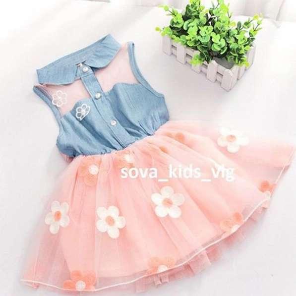 Красивое стильнок платье для маленькой модницы