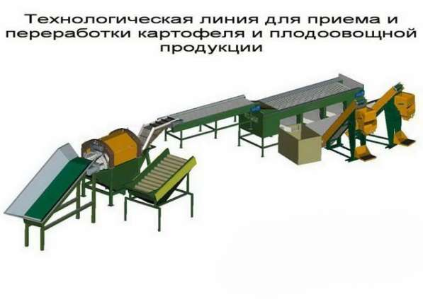 оборудование переработки и предпродажной подготовки овощей