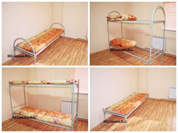 Кровать одноярусная/двухъярусная армейского типа
