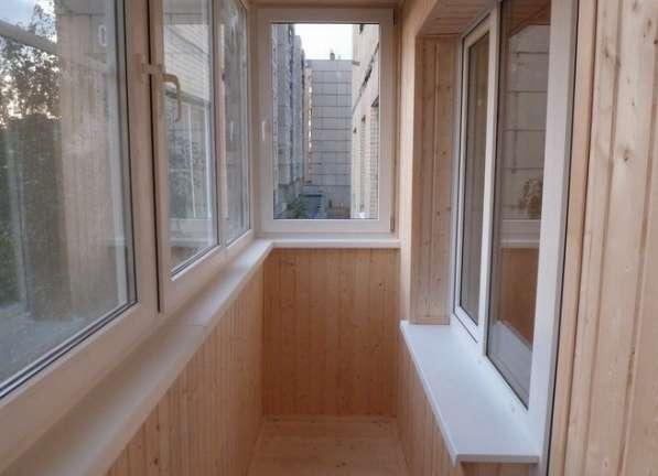Отделка балкона сауны под ключ