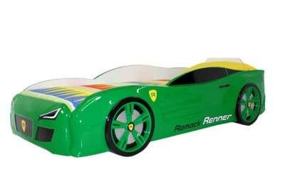 Зеленая кровать машина Ромак.