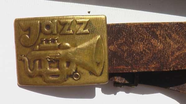 Кожаный ретро ремень СССР с пряжкой JAZZ