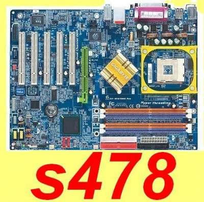 Мат.платы _ Socket 478 _ ASUS, GIGABYTE _ (4xDDR/ AGP/ LAN/ SATA