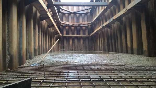 Крепление котлованов траншей шпунтом методом вибропогружения в Екатеринбурге