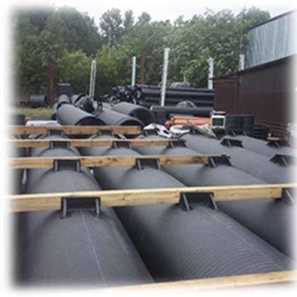Производство полимерных трубных поплавков для причалов