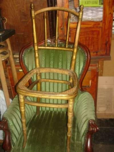старинный стул фирмы КОНЪ(в реставрацию)
