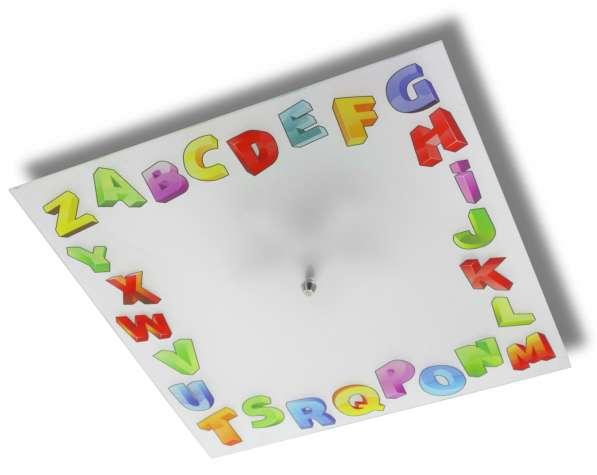 Детская люстра с изображением алфавита
