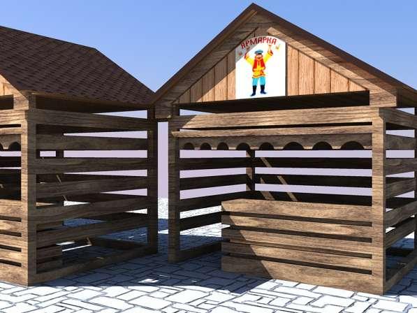 Изготавливаем деревянные ярмарочные домики в Ростове-на-Дону фото 4