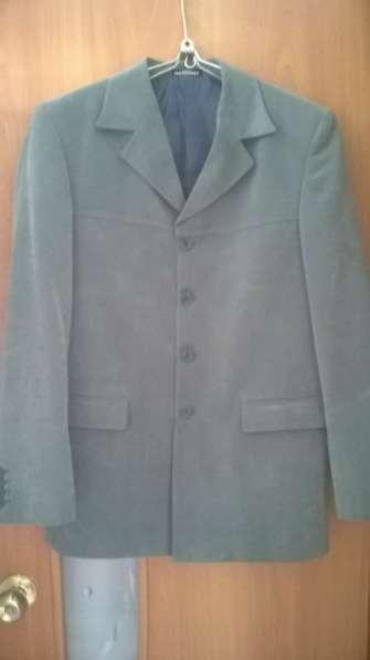 Мужской велюровый пиджак р.44-46