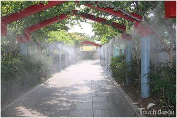 Системы туманообразования, туманное охлаждения, Микроклимат
