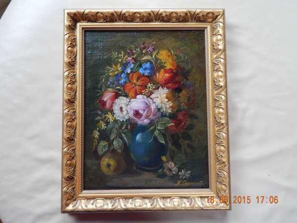 Холст масло 47 Х 36, цветочный натюрморт, Спасский Павел в Москве фото 3