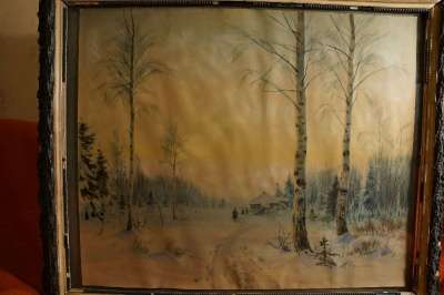 М.Балунин, «Зимний пейзаж», Россия, 19 в