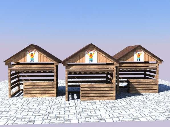 Изготавливаем деревянные ярмарочные домики в Ростове-на-Дону фото 5