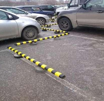 Колесоотбойники, парковочные барьеры