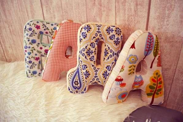 Буквы-подушки - изюминка Вашего дома