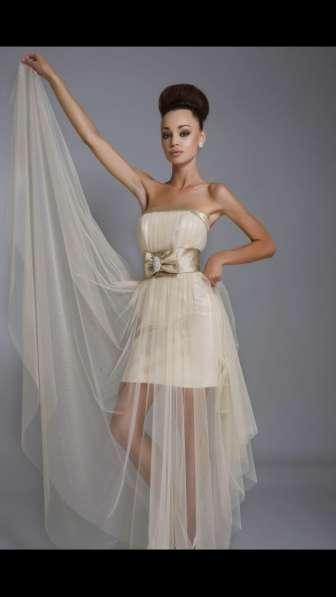 Коктейльное вечернее свадебное платье Rafaello