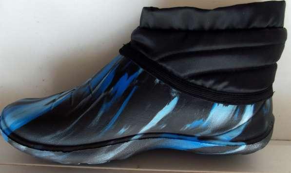 Теплые галоши и резиновые ботинки на меху и на флисе
