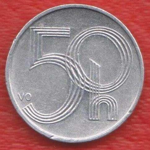 Чехия 50 геллеров 2000 г.