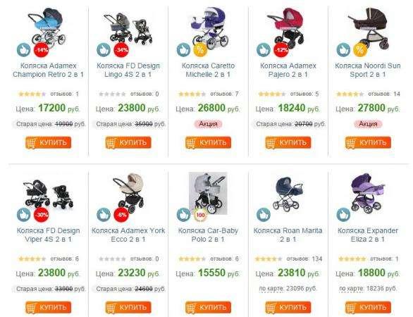 Детские коляски распродажа