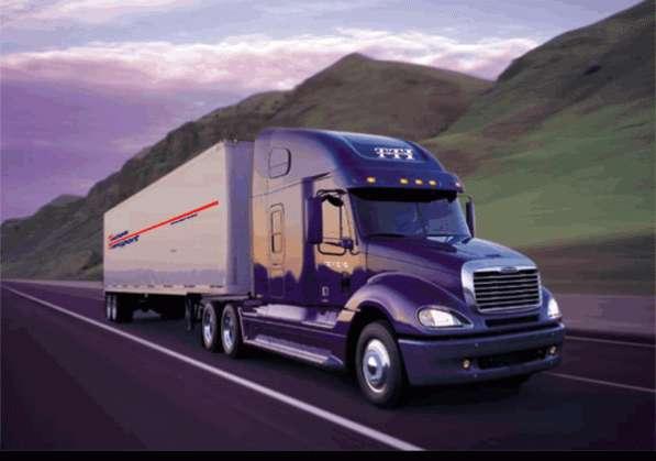 Рекламная печать на бортах грузовиков