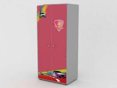 Двухдверный шкаф R800 розовый. GSR-8003.